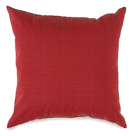 Red Throw Pillow For Bed : 17-Inch Outdoor Square Throw Pillow in Red - Bed Bath & Beyond