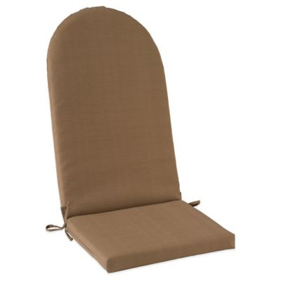 outdoor adirondack cushion with ties in camel