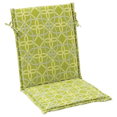 Outdoor Sling Cushion With Ties In Fret Kiwi