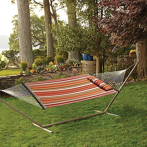 Hammock With Pillow In Spice Stripe Bed Bath Amp Beyond