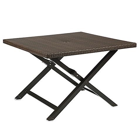 Barrington Wicker Folding Dining Table Www