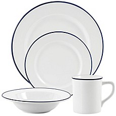 Everyday White\u0026reg; by Fitz and Floyd\u0026reg; ...  sc 1 st  Bed Bath \u0026 Beyond : white and black dinnerware - pezcame.com