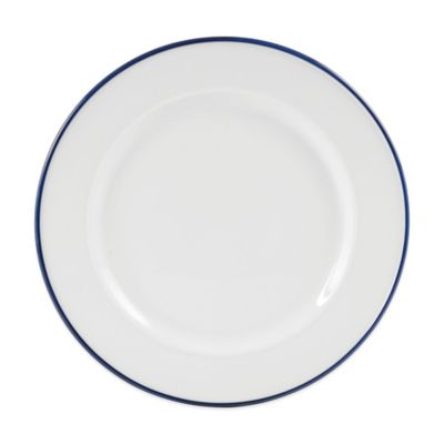Everyday White® by Fitz and Floyd® Blue Rim Dinner Plate  sc 1 st  Bed Bath u0026 Beyond : microwave dinner plates - pezcame.com