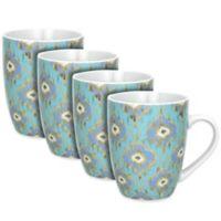 Dena™ Home Jaida Mugs in Blue (Set of 4)