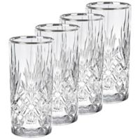 Lorren Home Trends Reagan Highball Glasses (Set of 4)