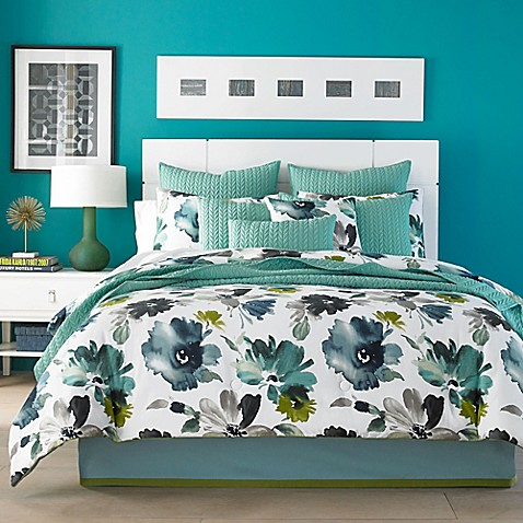 teal king size comforter j by j new york midori comforter set in teal bed 6023