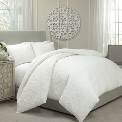 Vue Barcelona Convertible Queen Coverlet To Duvet Cover Set In Ivory