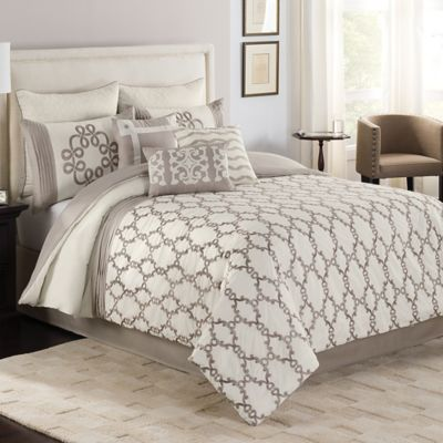 silver bed comforter from beyond buy fiesol sets set bath valeron in king luxury
