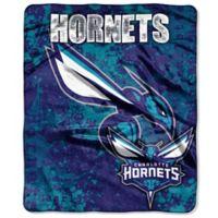 NBA Charlotte Hornets Super-Plush Raschel Throw Blanket
