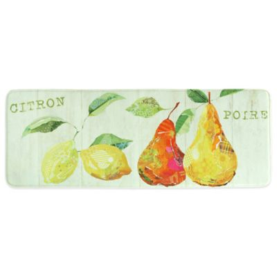 Bacova 20 Inch X 55 Inch Citron Et Poire Memory Foam Kitchen Rug