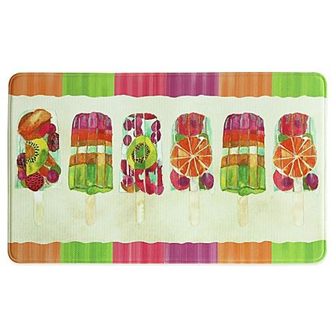 Bacova 25 Inch X 42 Inch Popsicle Ii Memory Foam Kitchen Rug Bed Bath Beyond