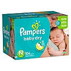 Pampers® Baby Dry™ 104-Count Size 0 Economy Pack Plus Disposable Diapers