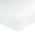 Just Born® Classic Collection Gramercy Dots Fitted Crib Sheet in Teal