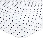 Just Born® Classic Collection Twinkle Twinkle Fitted Crib Sheet in Navy