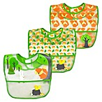green sprouts® 3-Pack Forest Waterproof Bibs in Green