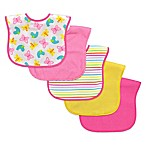 i play.® 5-Pack Large Waterproof Terry Bib in Pink