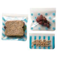 J. L. Childress 3-Piece Reusable Snack Bag Set in Teal