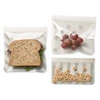 J. L. Childress 3-Piece Reusable Snack Bag Set in Grey