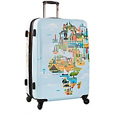 Heys fvt world map upright spinner luggage collection bed bath heys fvt world map 30 inch upright spinner gumiabroncs Gallery