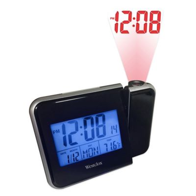 Buy alarm clock on ceiling from bed bath beyond lcd projection clock mozeypictures Image collections