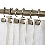 Zenna Home® Verdanza Metal Square Roller Shower Curtain Hooks in Brushed Nickel (Set of 12)