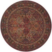Karastan Original Multi Panel Kirman 8-Foot 8-Inch Round Rug