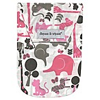 Diapees & Wipees Laminated Storage Bag with Wipes Case in Safari Pink