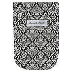Diapees & Wipees Laminated Storage Bag with Wipes Case in Chic Damask