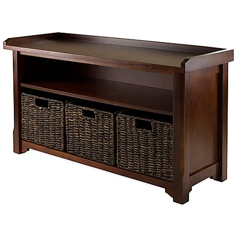 Winsome Trading Granville Storage Bench With 3 Small
