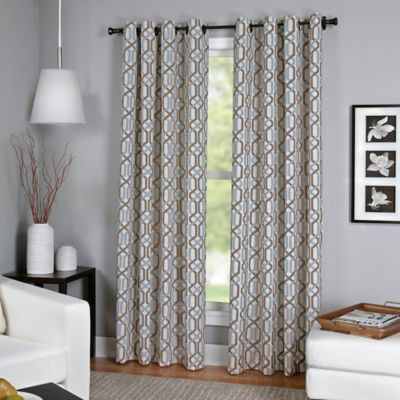 Buy 95-Inch Window Curtain Panel in Blue from Bed Bath & Beyond