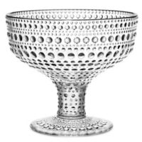 Iittala Kastehelmi Footed Bowl in Clear