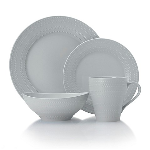 mikasa 174 ryder dinnerware collection in grey bed bath