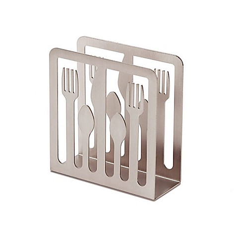 Umbra cutlery napkin holder in nickel bed bath beyond for Bathroom napkin holder