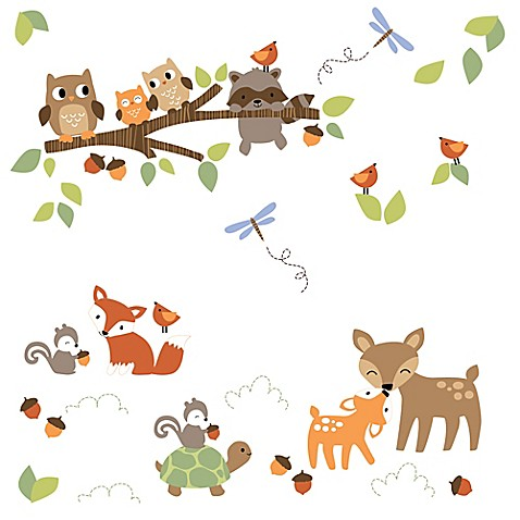 Lambs & Ivy® Woodland Tales Wall Decals - Bed Bath & Beyond