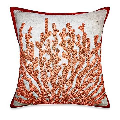 Coral French-Knot Square Throw Pillow - Bed Bath & Beyond