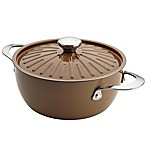Rachael Ray™  Cucina 4.5 qt. Hard Enamel Covered Casserole in Brown