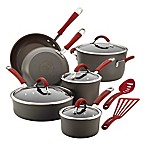 Rachael Ray Cucina 12-Piece Cookware Set in Grey/Cranberry