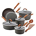 Rachael Ray Cucina 12-Piece Cookware Set in Grey/Pumpkin
