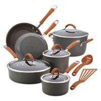 Rachael Ray Cucina 12-Piece Cookware Set in Grey/Pumpkin