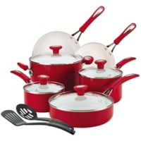 SilverStone Ceramic Cxi 12-Piece Cookware Set in Red