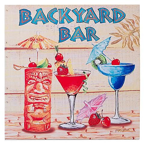 Tiki bar indoor outdoor canvas art bed bath beyond - Bed bath and beyond palm beach gardens ...