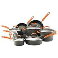 Rachael Ray 14-Piece Hard Anodized Cookware Set in Orange