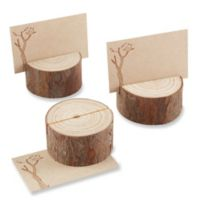 Kate Aspen® Rustic Real-Wood Place Card/Photo Holder (Set of 4)