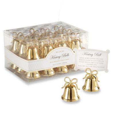 kate aspen gold kissing bells place cardphoto holder set of 24