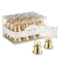 Kate Aspen® Gold Kissing Bells Place Card/Photo Holder (Set of 24)