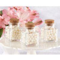 kate aspen petite treat square glass favor jars set of 12