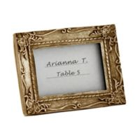 Kate Aspen® Work of Art Antique-Finish Place Card/Photo Frame