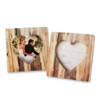 "Kate Aspen® ""Rustic Romance"" Faux-Wood Heart Place Card/Photo Frame"