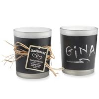 "Kate Aspen® ""Chalkboard"" Frosted Glass Tealight Holders (Set of 4)"