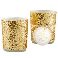"Kate Aspen® ""All That Glitters"" Votive/Tealight Holders in Gold (Set of 4)"